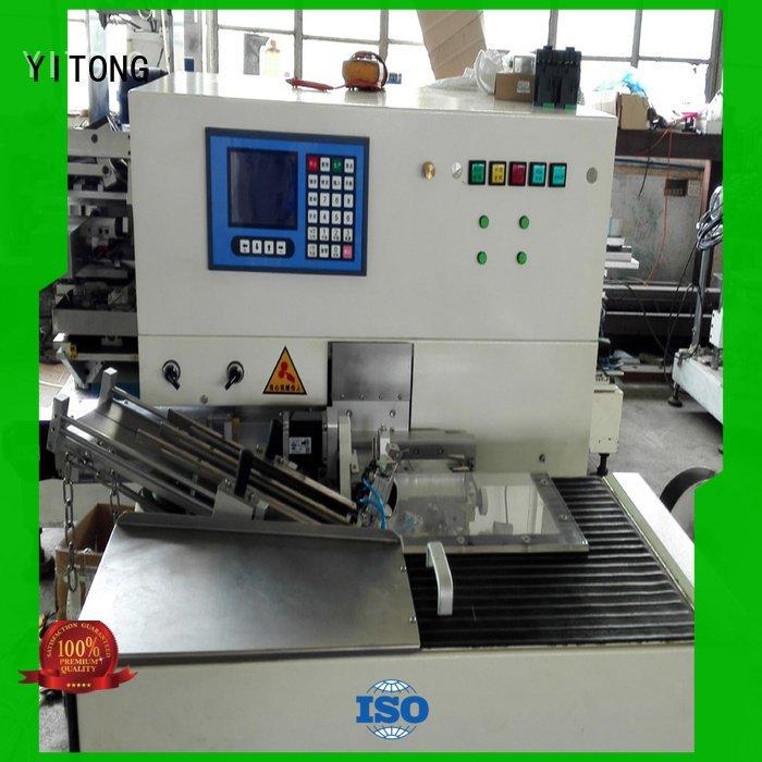 Custom toothbrush making machine machine axis